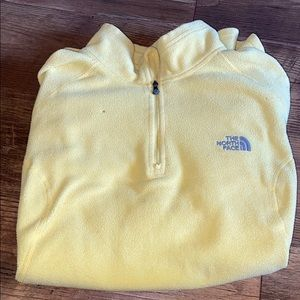 The North Face yellow fleece 3/4 zip pull over